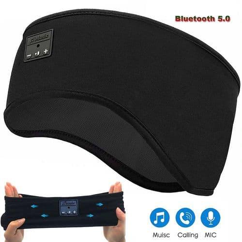 Casque Bandeau De Sommeil Sans Fil Bluetooth V5.0 Masque Yeux Écouteur Micro